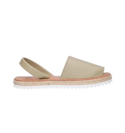 FAST SHOES 550 Doble piso PIEL Mujer Beige