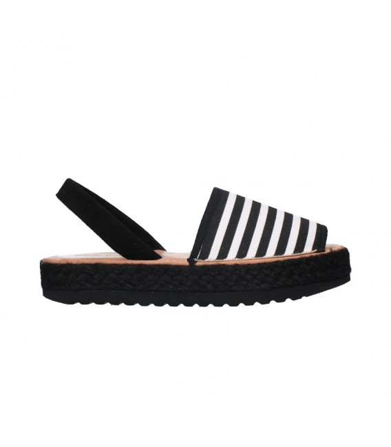 FAST SHOES 550 Doble piso RAYAS Mujer Negro
