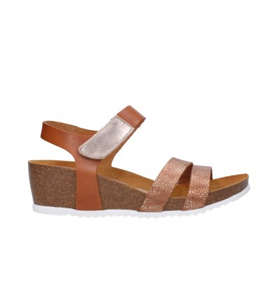 OH MY SANDALS 4398 roble Mujer Cuero