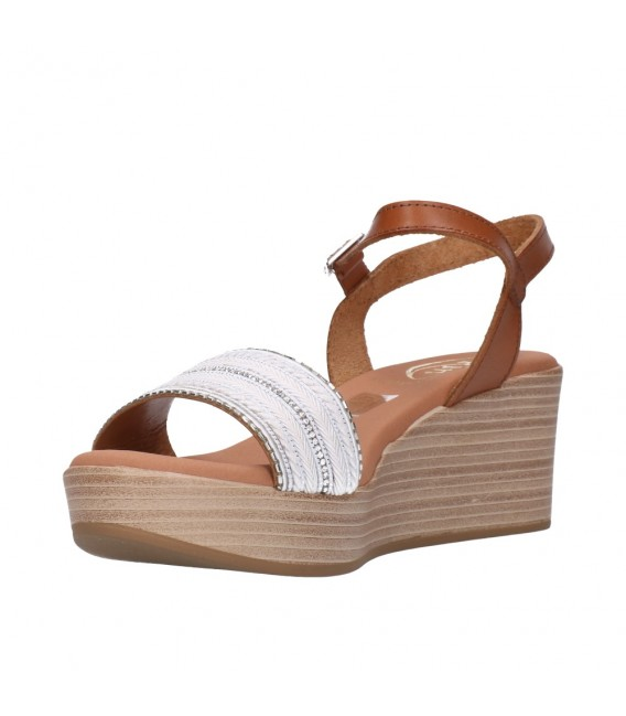 OH MY SANDALS 4686 BLANCO CON ROBLE Mujer Blanco