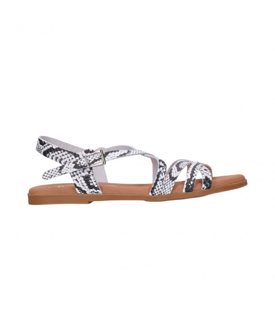 OH MY SANDALS 4640 TODO REPTILE BLANCO Mujer Blanco