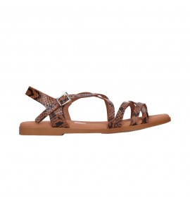 OH MY SANDALS 4640 TODO REPTILE ROBLE Mujer Cuero